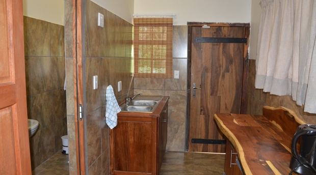 Stoep At Steenbok unit 3 kitchen and bathroom